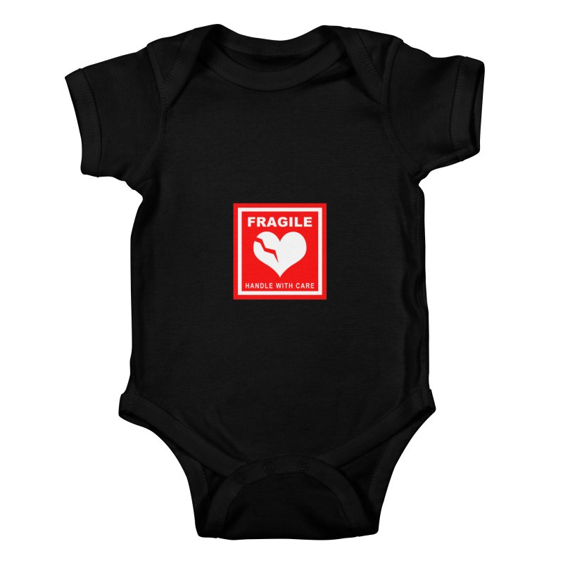 Fragile Handle With Care Kids Baby Bodysuit by Hassified