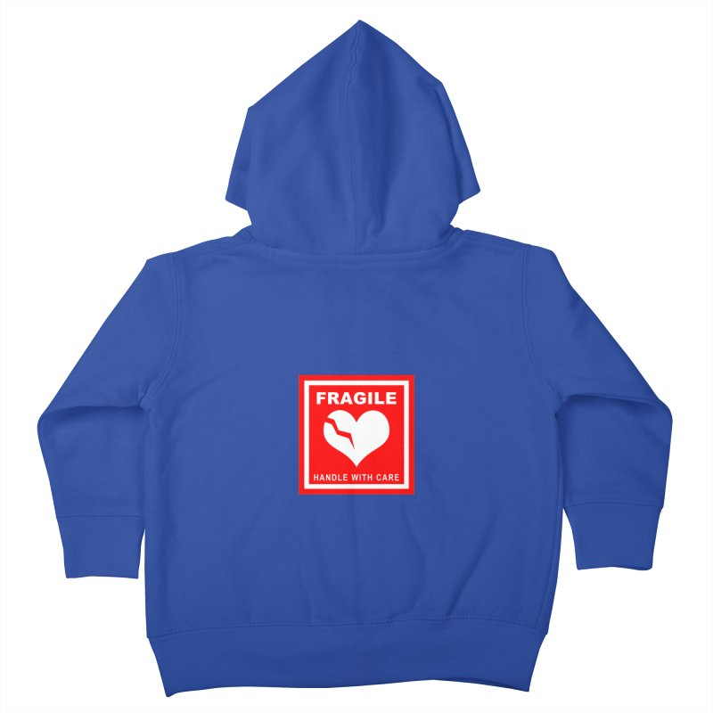 Fragile Handle With Care Kids Toddler Zip-Up Hoody by Hassified