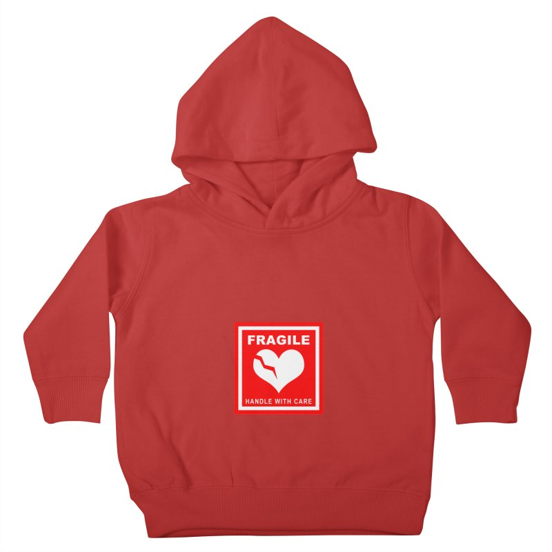 Fragile Handle With Care Kids Toddler Pullover Hoody by Hassified