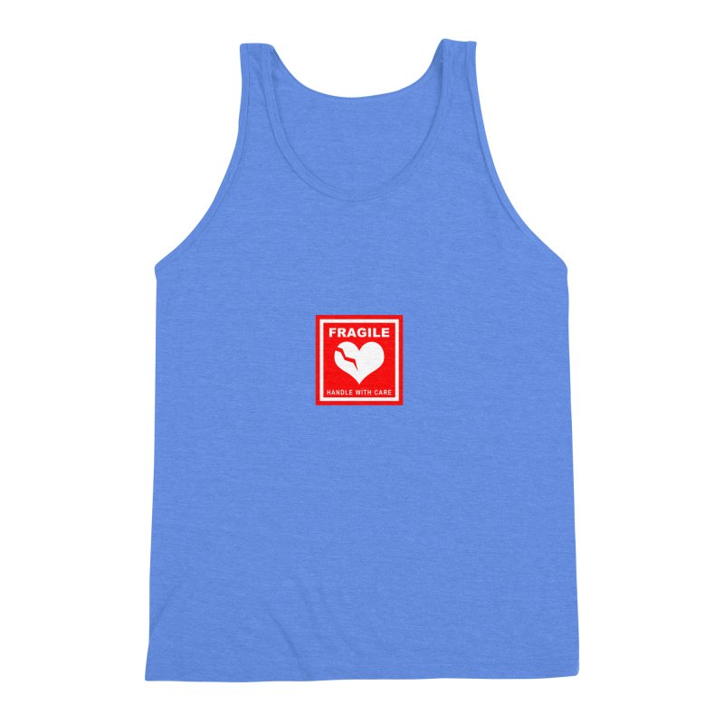 Fragile Handle With Care Men's Triblend Tank by Hassified