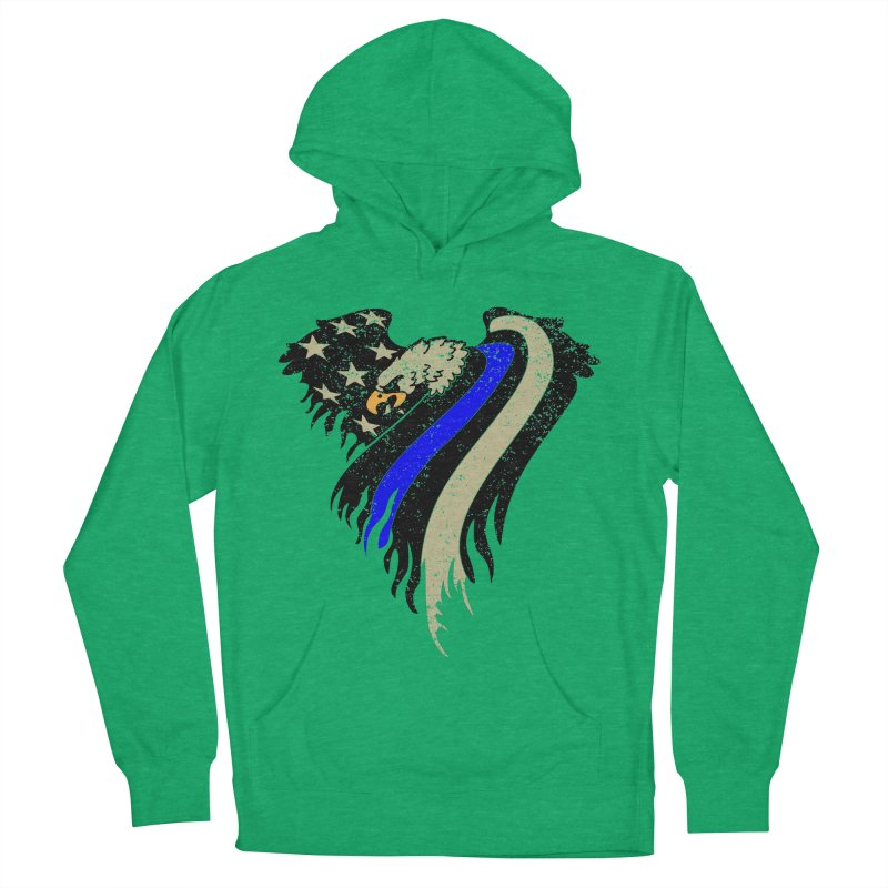 Law Enforcement Eagle Flag Women's French Terry Pullover Hoody by Hassified