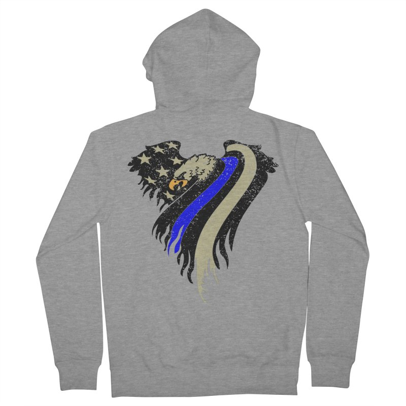 Law Enforcement Eagle Flag Women's French Terry Zip-Up Hoody by Hassified