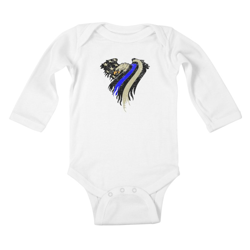 Law Enforcement Eagle Flag Kids Baby Longsleeve Bodysuit by Hassified