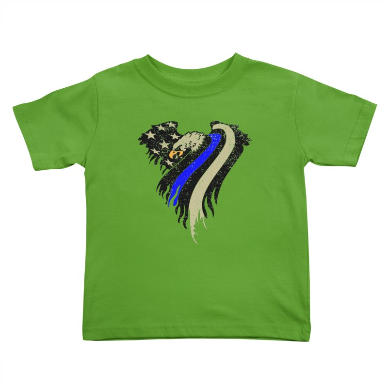 Law Enforcement Eagle Flag Kids Toddler T-Shirt by Hassified