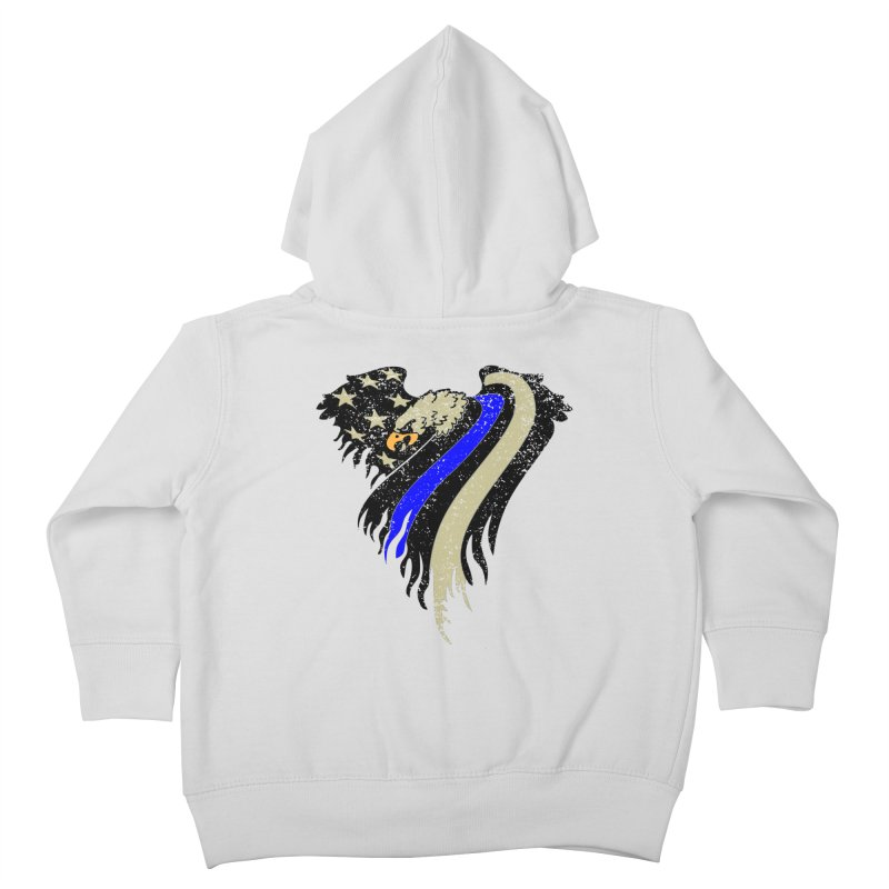 Law Enforcement Eagle Flag Kids Toddler Zip-Up Hoody by Hassified