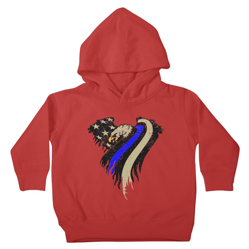 Law Enforcement Eagle Flag Kids Toddler Pullover Hoody by Hassified