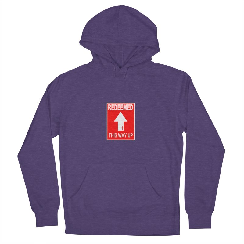 Redeemed, This Way Up Women's French Terry Pullover Hoody by Hassified