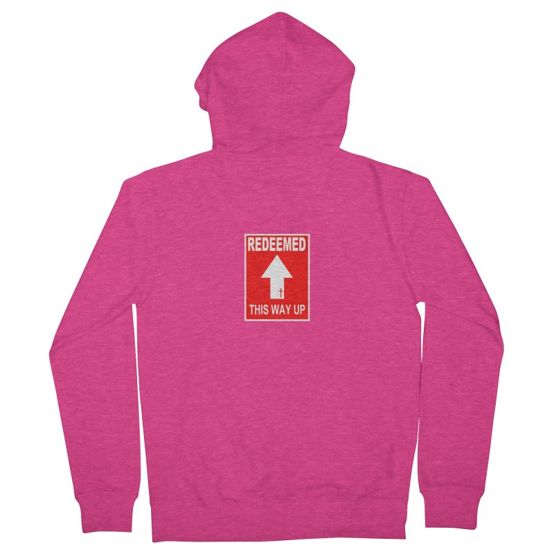 Redeemed, This Way Up Women's French Terry Zip-Up Hoody by Hassified