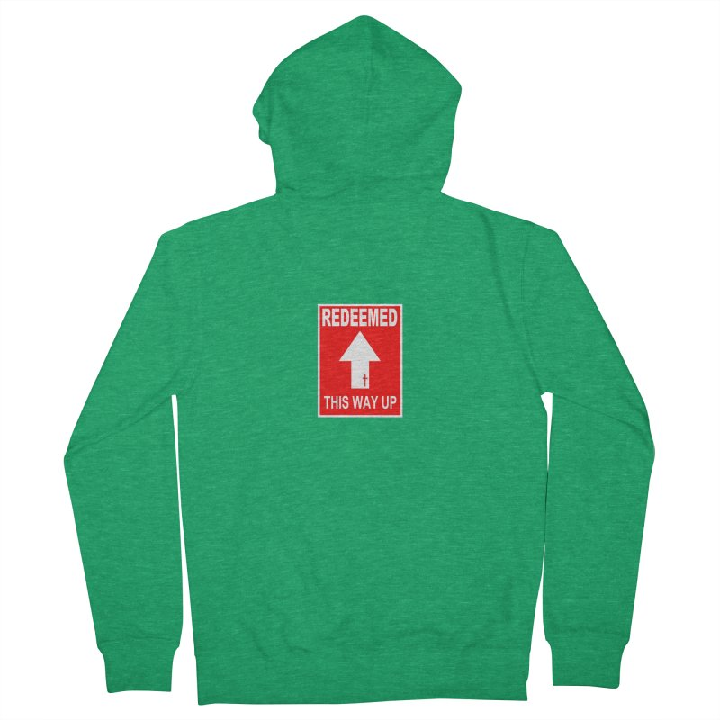 Redeemed, This Way Up Men's French Terry Zip-Up Hoody by Hassified