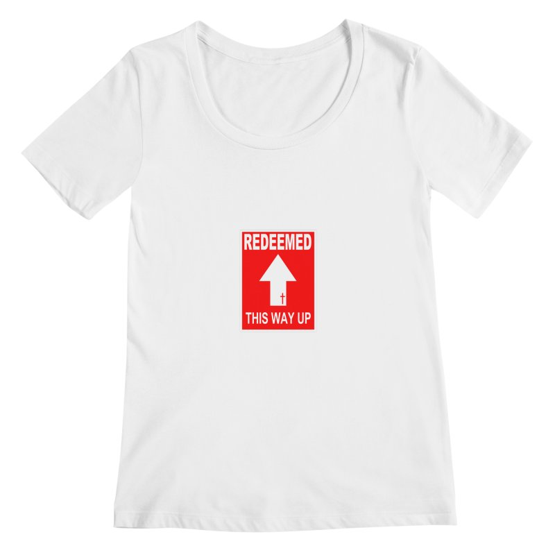 Redeemed, This Way Up Women's Regular Scoop Neck by Hassified