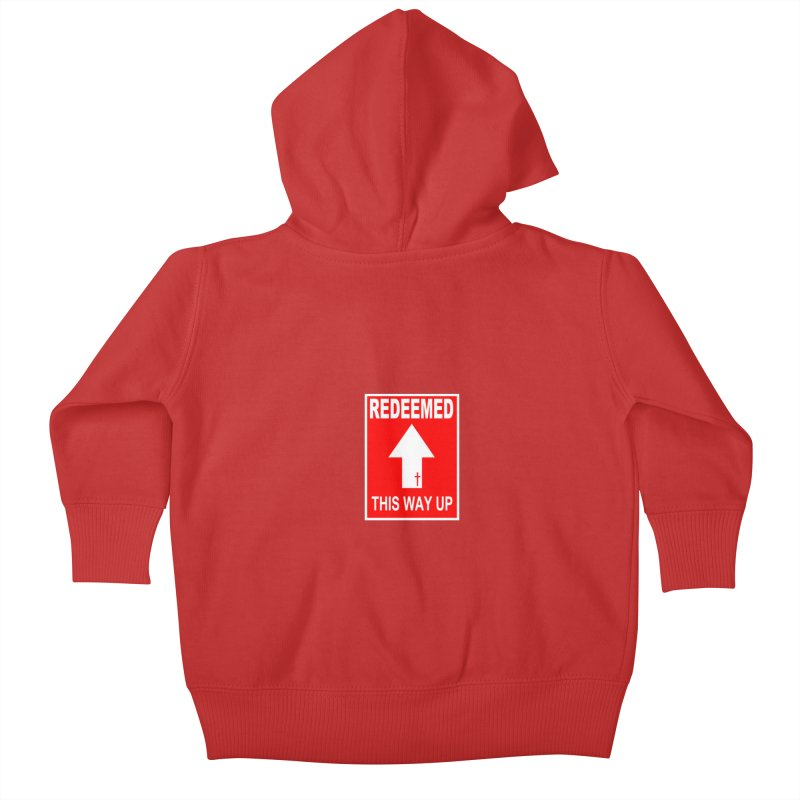 Redeemed, This Way Up Kids Baby Zip-Up Hoody by Hassified