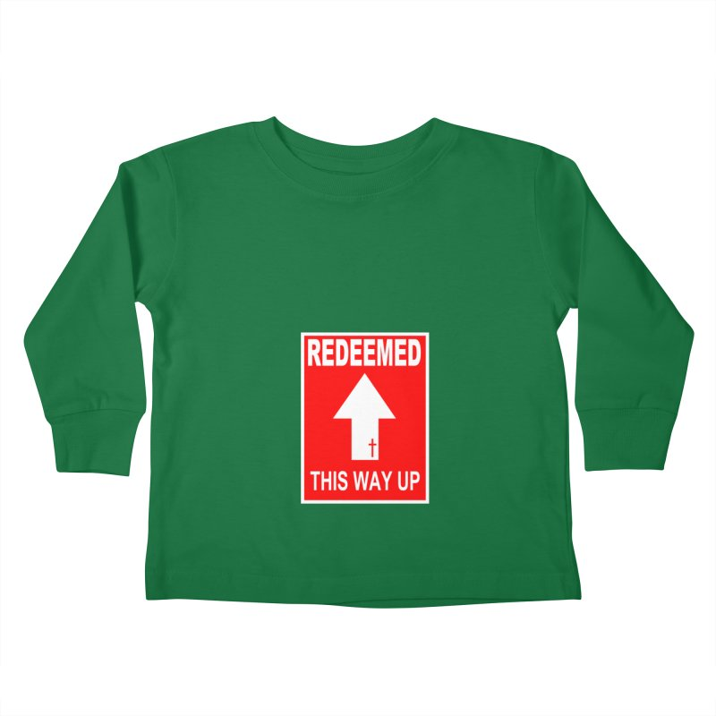 Redeemed, This Way Up Kids Toddler Longsleeve T-Shirt by Hassified