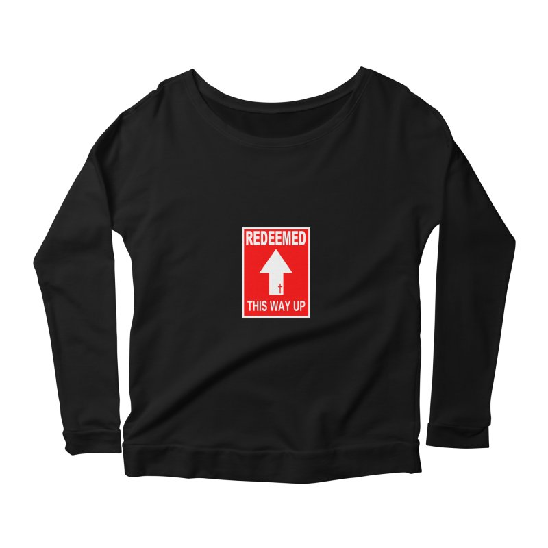 Redeemed, This Way Up Women's Longsleeve Scoopneck  by Hassified