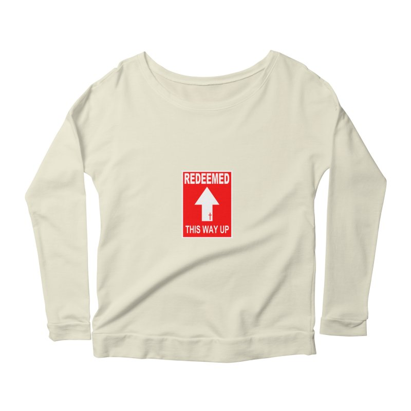 Redeemed, This Way Up Women's Scoop Neck Longsleeve T-Shirt by Hassified