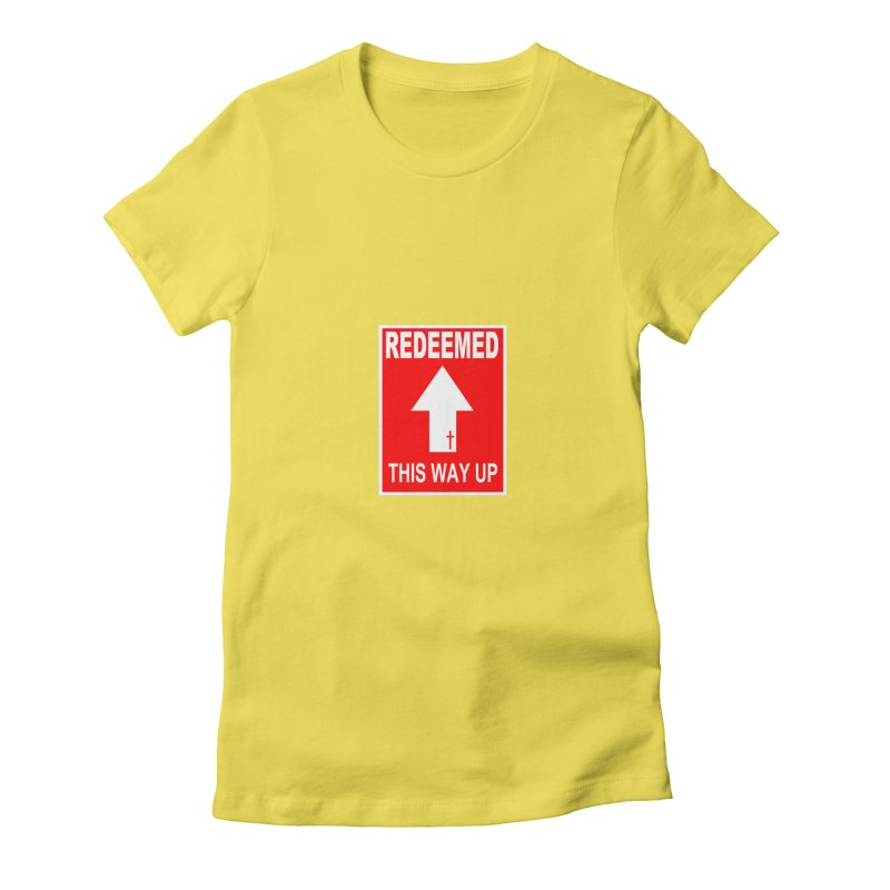 Redeemed, This Way Up Women's Fitted T-Shirt by Hassified