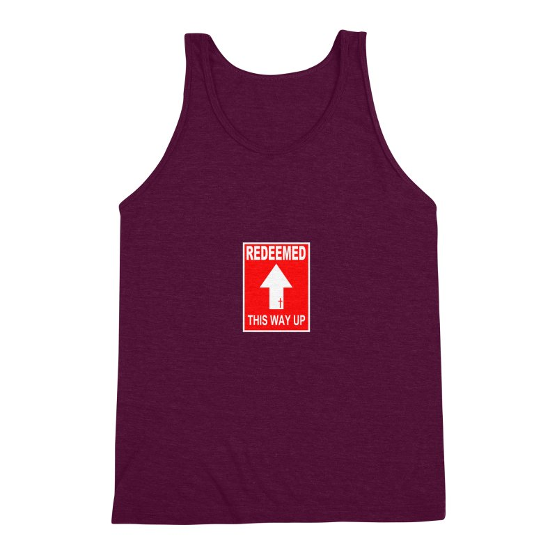 Redeemed, This Way Up Men's Triblend Tank by Hassified