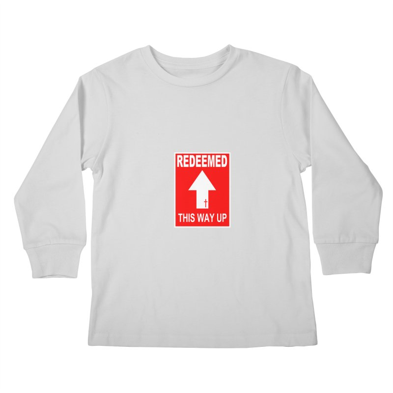 Redeemed, This Way Up Kids Longsleeve T-Shirt by Hassified