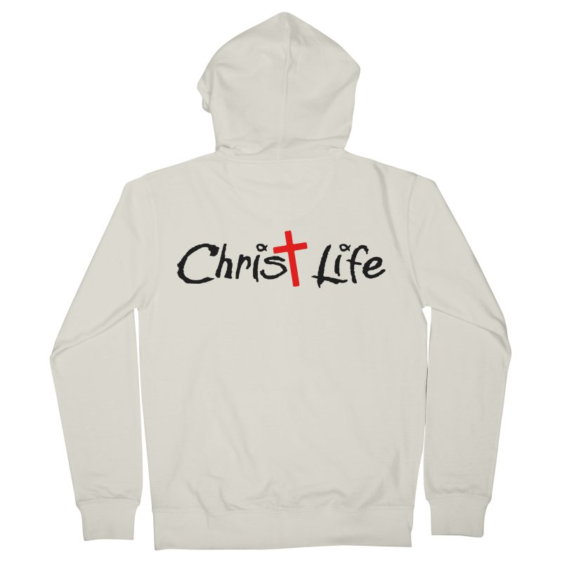 Christ Life Men's French Terry Zip-Up Hoody by Hassified