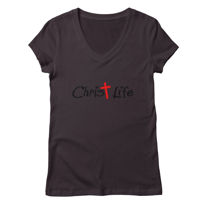 Christ Life Women's Regular V-Neck by Hassified