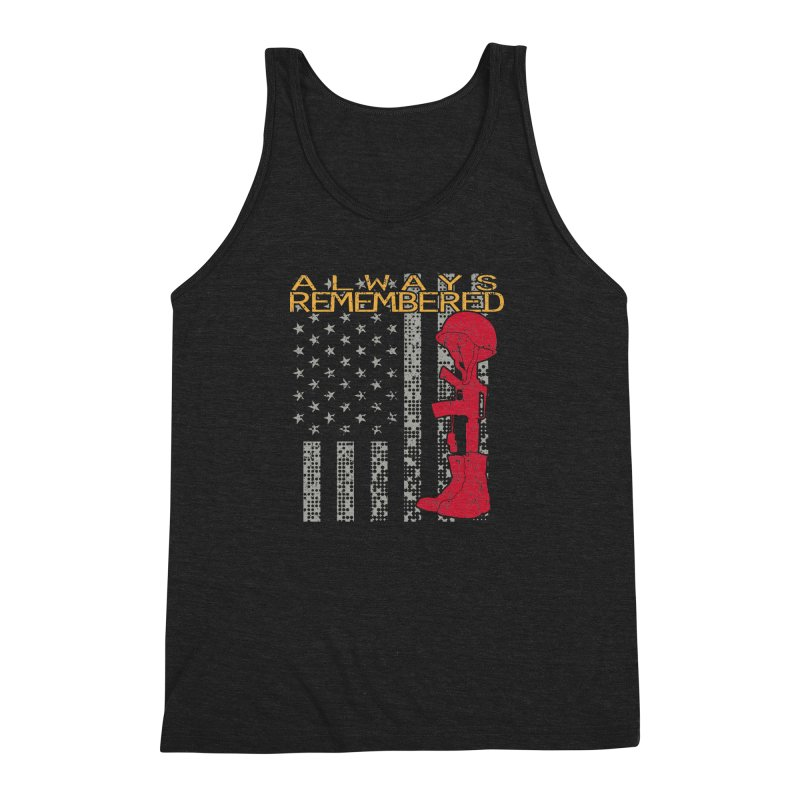 Always Remembered Men's Triblend Tank by Hassified