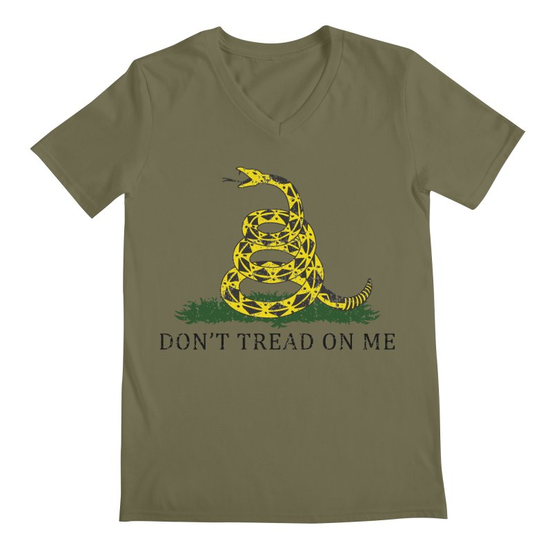 Gadsden, Don't Tread on Me Men's V-Neck by Hassified
