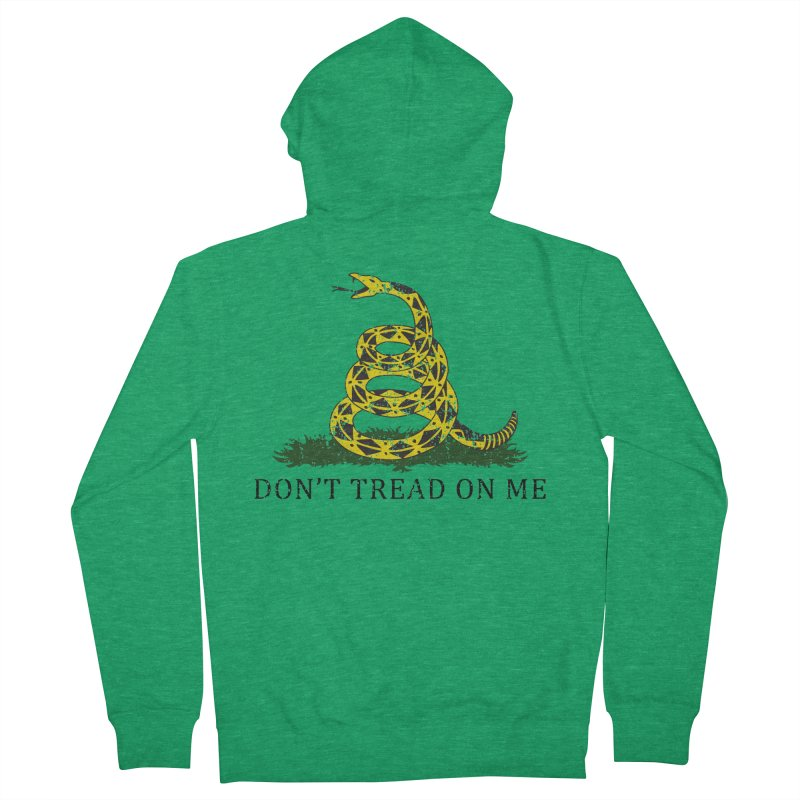 Gadsden, Don't Tread on Me Men's Zip-Up Hoody by Hassified