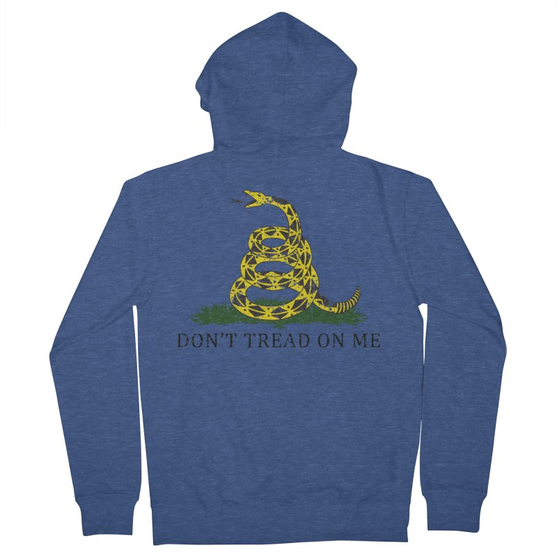 Gadsden, Don't Tread on Me Men's French Terry Zip-Up Hoody by Hassified
