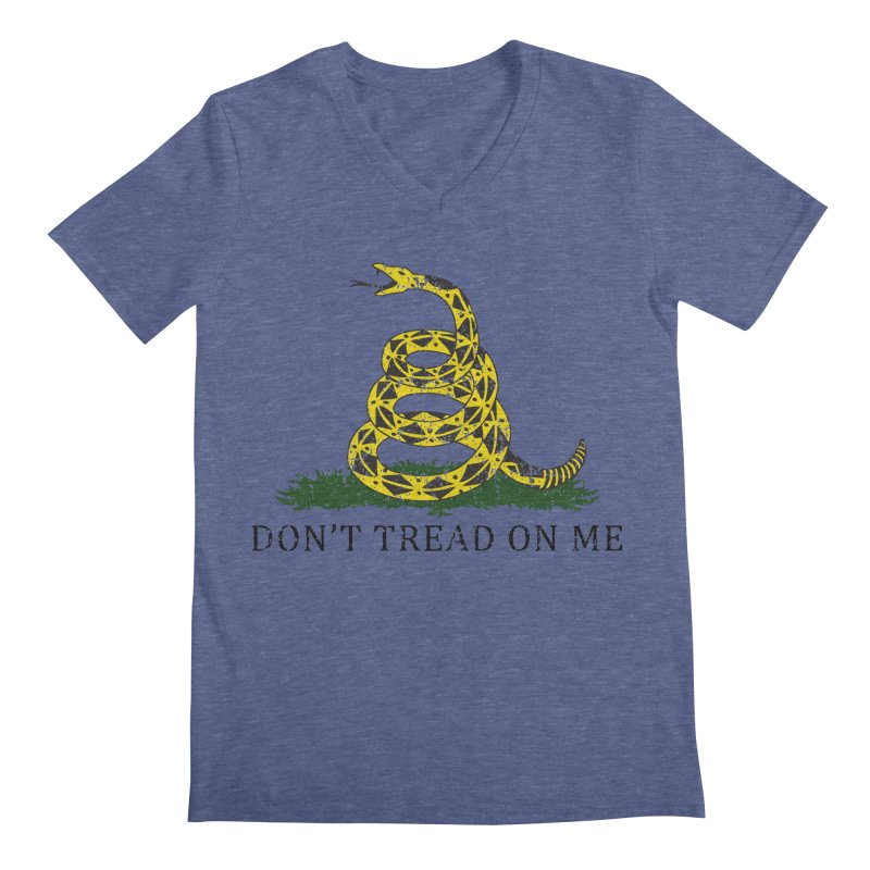 Gadsden, Don't Tread on Me Men's Regular V-Neck by Hassified