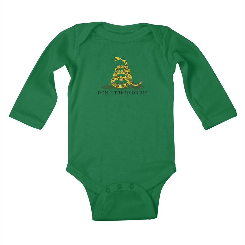 Gadsden, Don't Tread on Me Kids Baby Longsleeve Bodysuit by Hassified