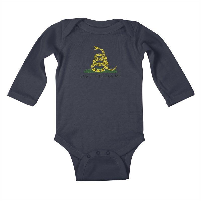 Gadsden, Don't Tread on Me Kids Baby Longsleeve Bodysuit by Hassified