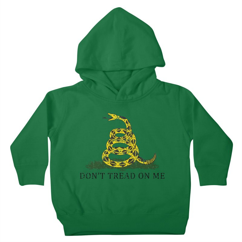 Gadsden, Don't Tread on Me Kids Toddler Pullover Hoody by Hassified