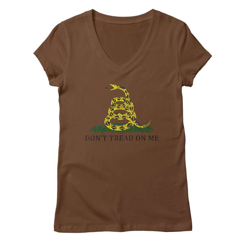 Gadsden, Don't Tread on Me Women's Regular V-Neck by Hassified