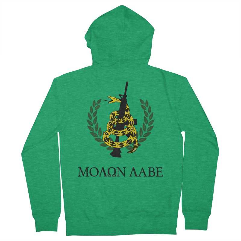 Gadsden Molon Labe Women's French Terry Zip-Up Hoody by Hassified