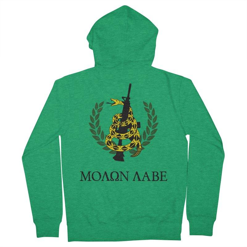 Gadsden Molon Labe Men's Zip-Up Hoody by Hassified