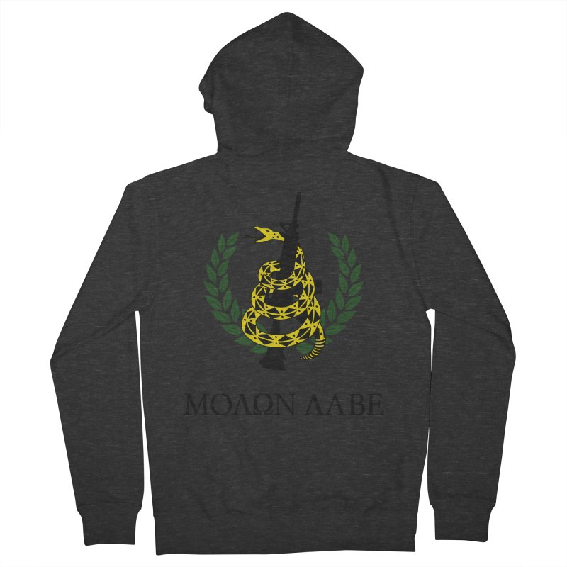 Gadsden Molon Labe Men's French Terry Zip-Up Hoody by Hassified