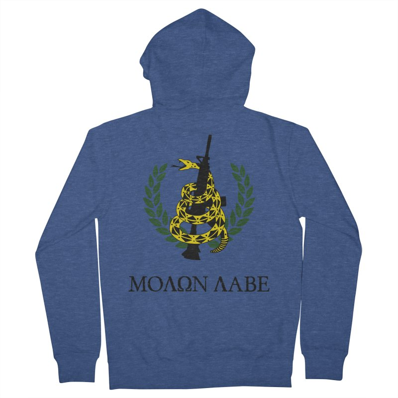 Gadsden Molon Labe Men's Zip-Up Hoody by Hassified