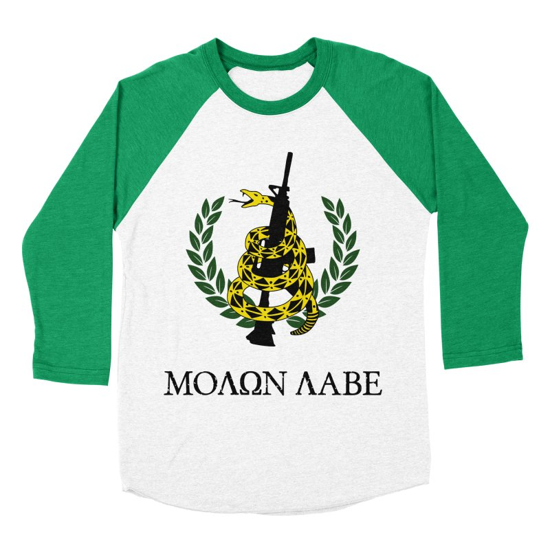 Gadsden Molon Labe Men's Baseball Triblend Longsleeve T-Shirt by Hassified