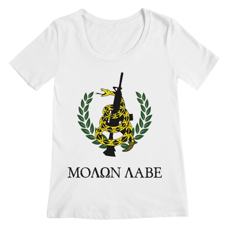 Gadsden Molon Labe Women's Regular Scoop Neck by Hassified