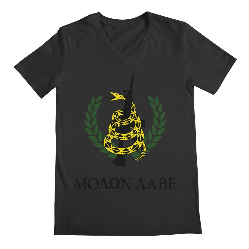 Gadsden Molon Labe Men's V-Neck by Hassified