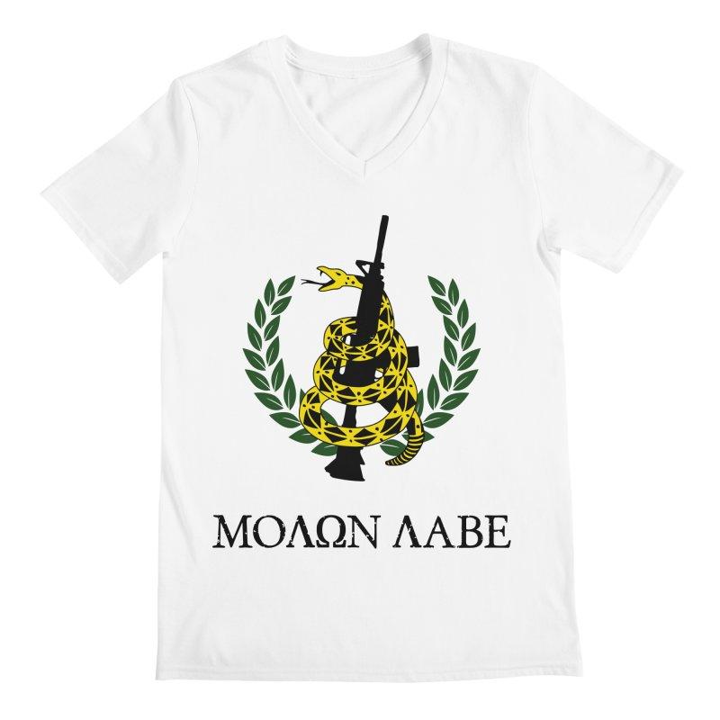 Gadsden Molon Labe Men's V-Neck by Hassified