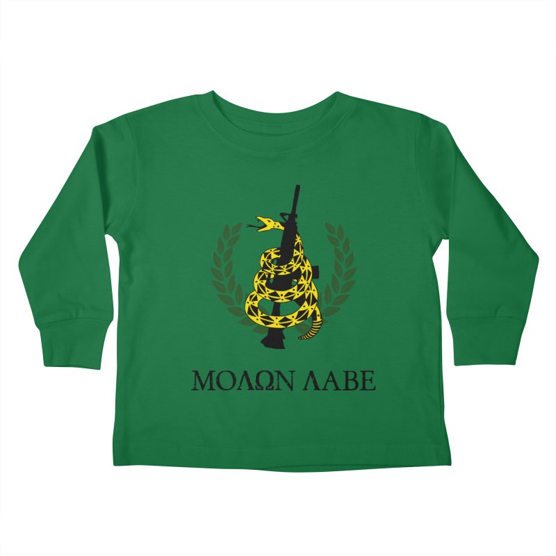 Gadsden Molon Labe Kids Toddler Longsleeve T-Shirt by Hassified