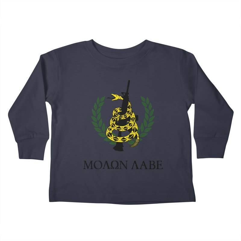 Gadsden Molon Labe Kids Toddler Longsleeve T-Shirt by Hassified