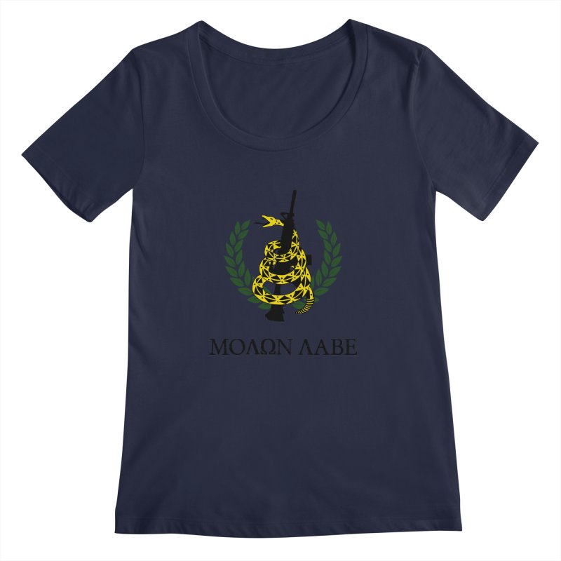 Gadsden Molon Labe Women's Scoopneck by Hassified