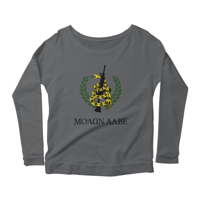 Gadsden Molon Labe Women's Scoop Neck Longsleeve T-Shirt by Hassified