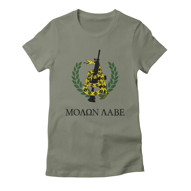 Gadsden Molon Labe Women's Fitted T-Shirt by Hassified