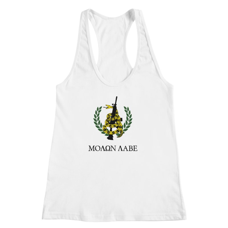 Gadsden Molon Labe Women's Racerback Tank by Hassified