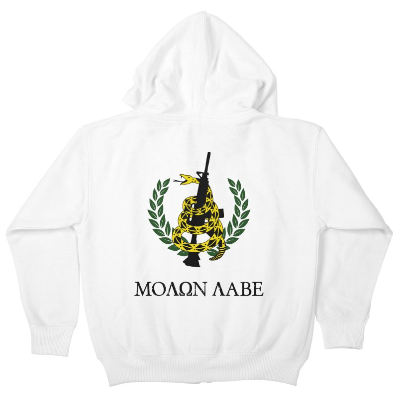Gadsden Molon Labe Kids Zip-Up Hoody by Hassified