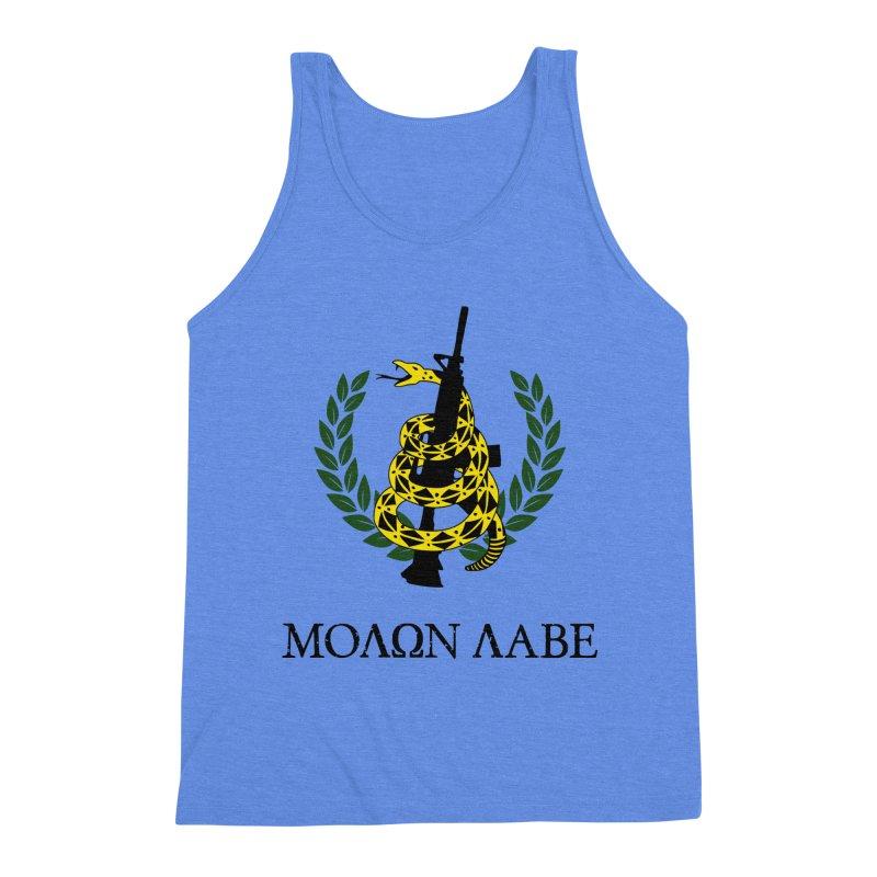 Gadsden Molon Labe Men's Triblend Tank by Hassified