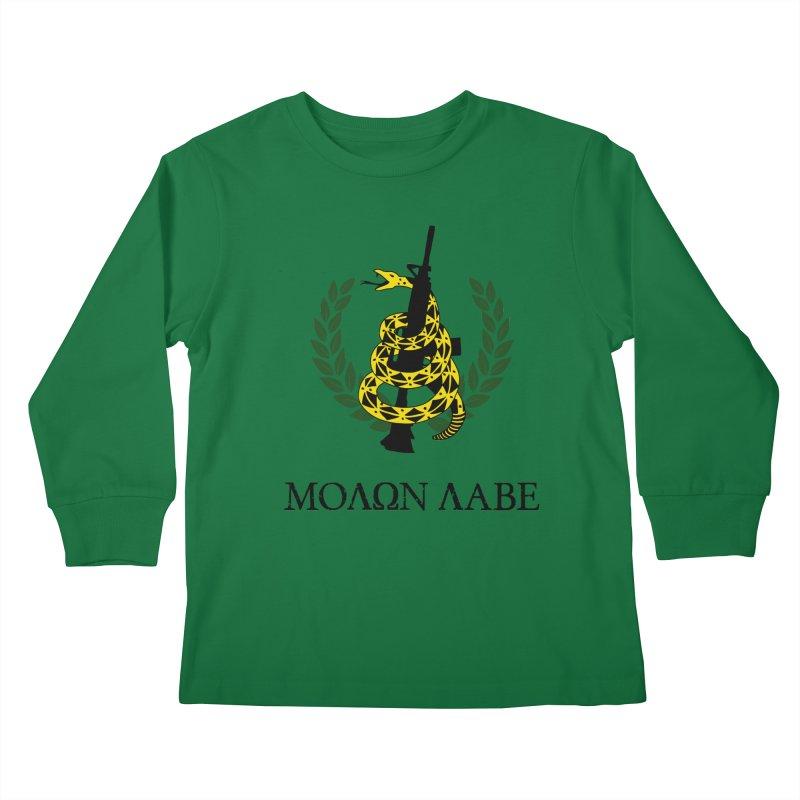 Gadsden Molon Labe Kids Longsleeve T-Shirt by Hassified