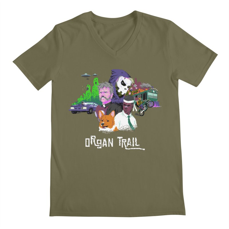 Organ Trail Final Cut Men's Regular V-Neck by The Men Who Wear Many Hats